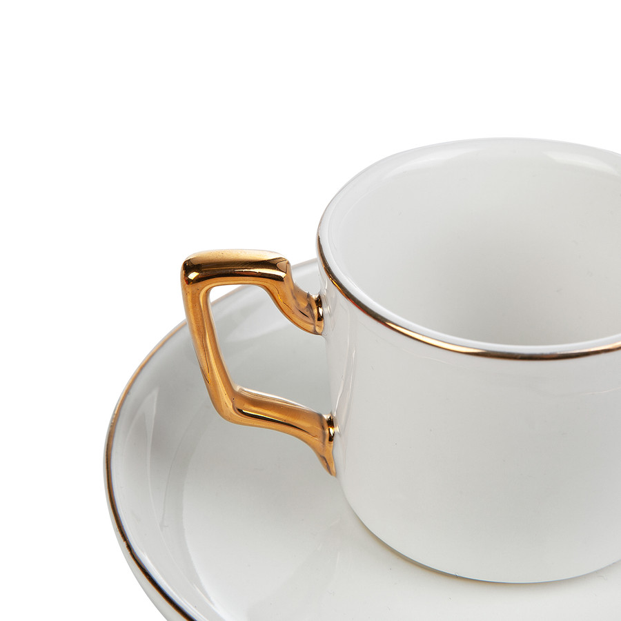 Emsan Kayra Beyaz 2 Kişilik Kahve Fincan Takımı