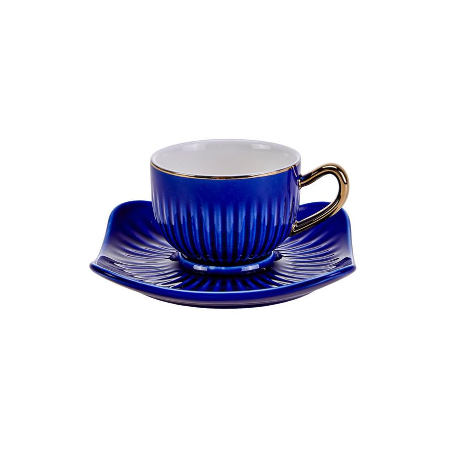 Emsan Nasip Mavi 2 Kişilik Kahve Fincan Takımı
