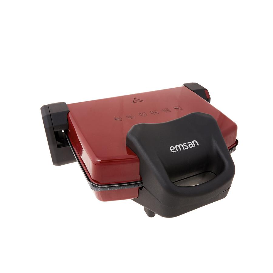 Emsan Power Master Granit 1800w Kırmızı Tost Makinesi