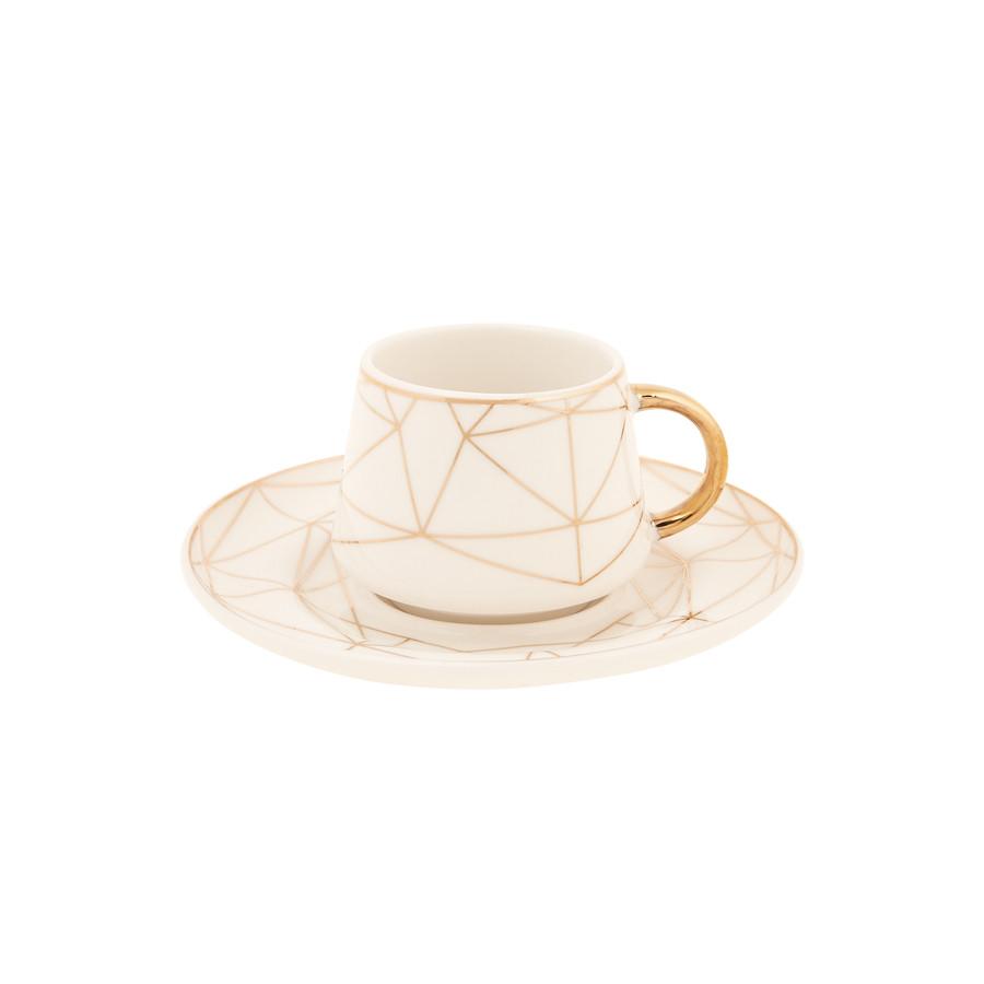 Emsan Altın Çağ Yeni 6 Kişilik Kahve Fincanı Takımı