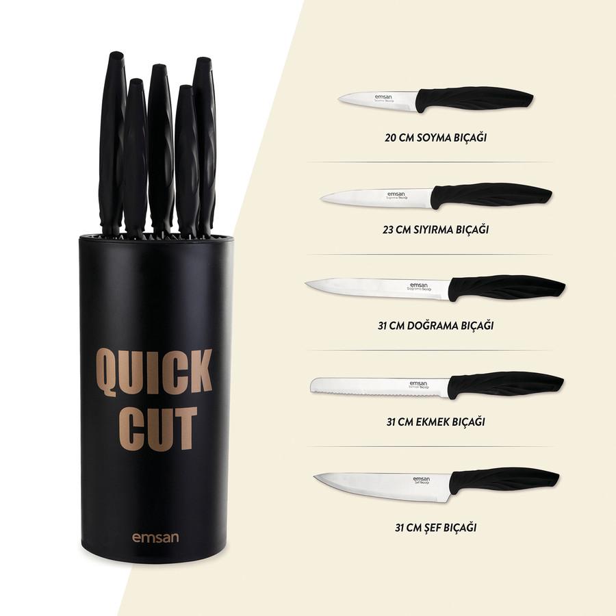 Emsan Quick Cut 6 Parça Bıçak Seti