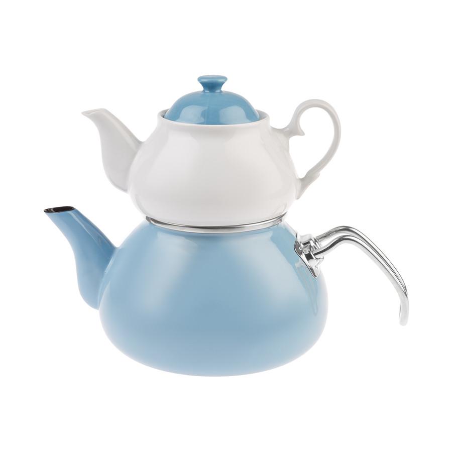 Emsan Celine Emaye Baby Blue Çaydanlık Takımı