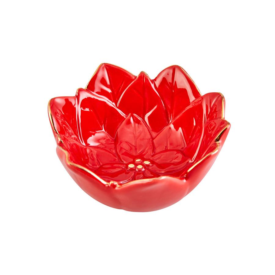 Karaca Ela Kırmızı Küçük Dekoratif Tabak