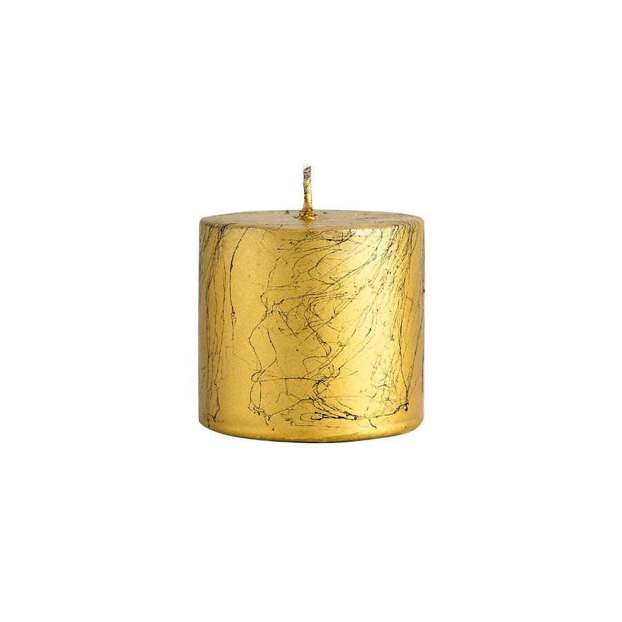 Karaca Andy Gold Silindir Mum 6.5x6 cm