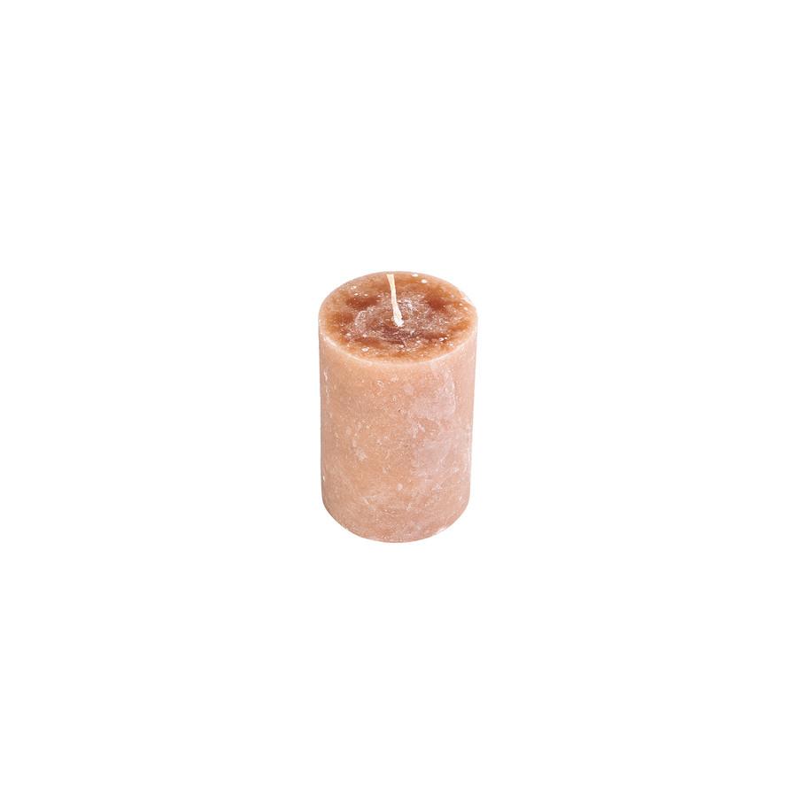 Karaca Açık Kahve Silindir Mum 6,5x10 cm