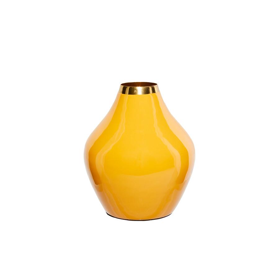 Karaca Glore Vazo 19x17 cm Sarı