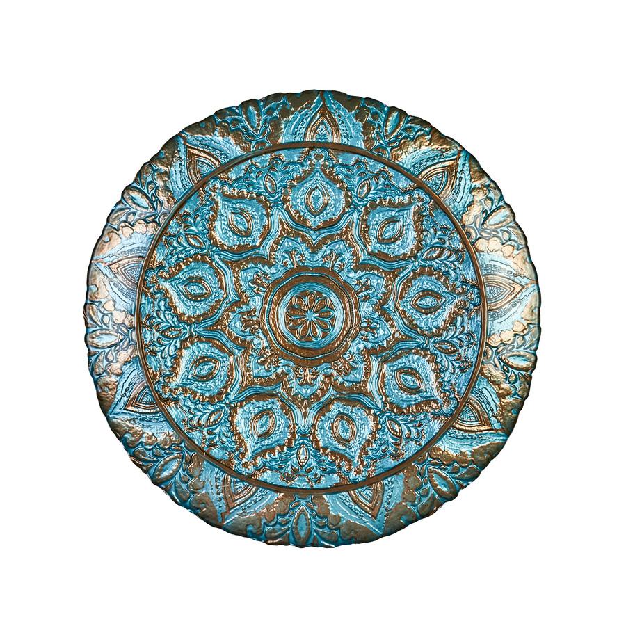 Karaca Anaıs Dekoratif Tepsi 40 cm Turkuaz
