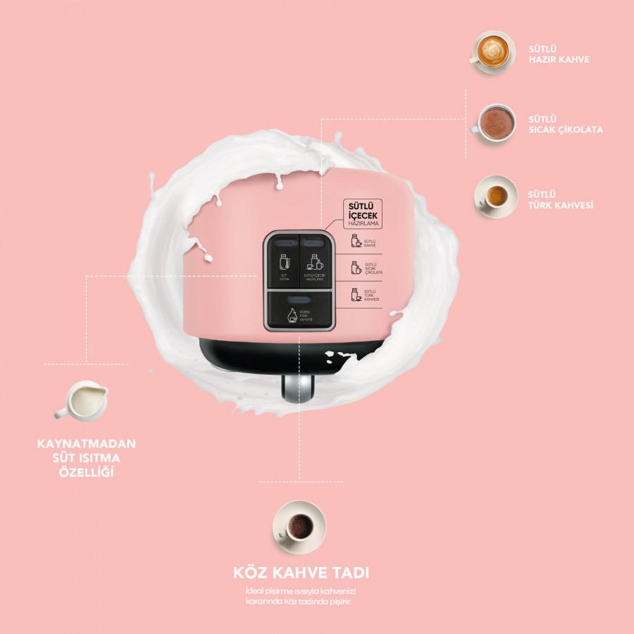 Karaca Hatır Mod Sütlü Türk Kahve Makinesi Grape Pink
