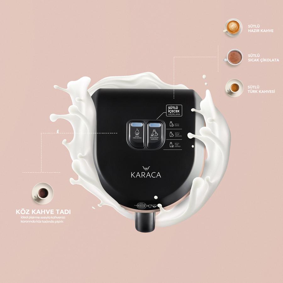 Karaca Hatır Hüps Sütlü Türk Kahve Makinesi Pearly Pink