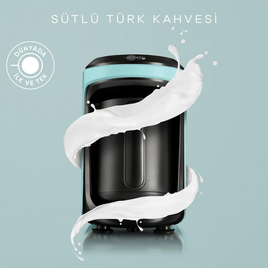 Karaca Hatır Hüps Sütlü Türk Kahve Makinesi Aqua Green