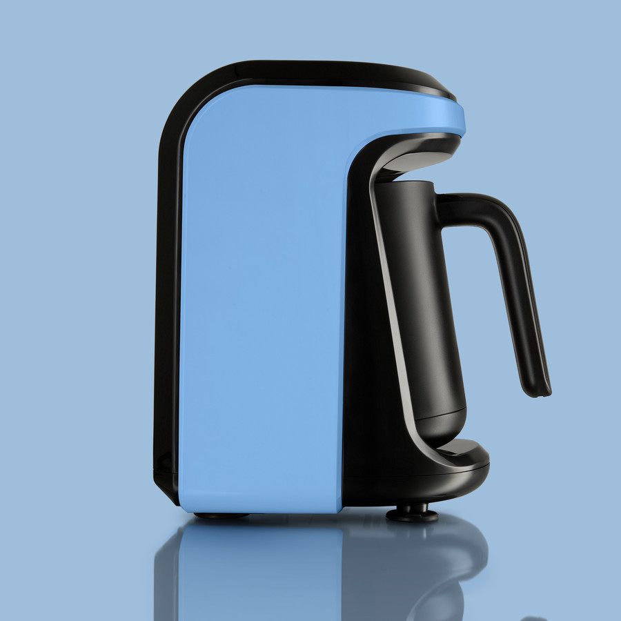 Karaca Hatır Hüps Sütlü Türk Kahve Makinesi Vintage Blue