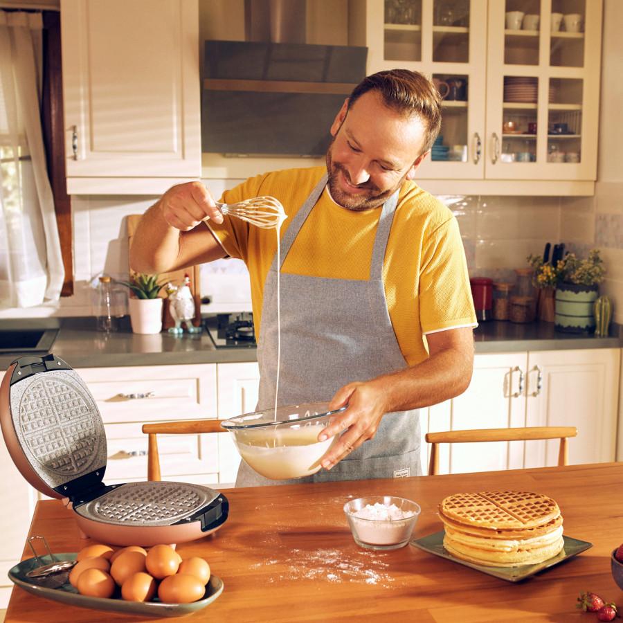 Karaca Funday Silver Waffle Makinesi 1000W