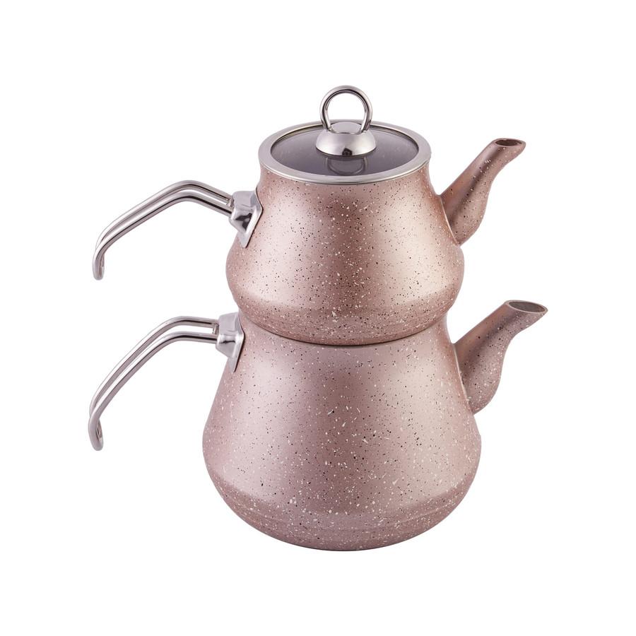 Karaca Bio Granit Çaydanlık Takımı Rose