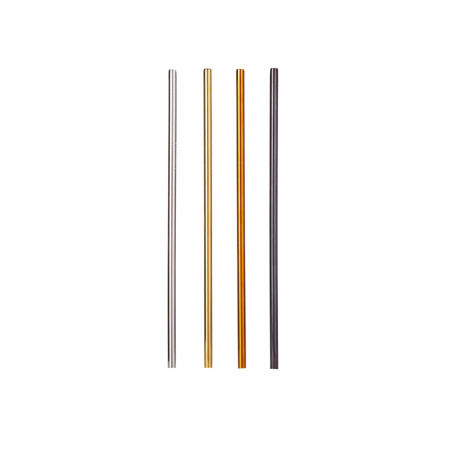 Karaca Çelik Renkli 4 Kişilik Pipet