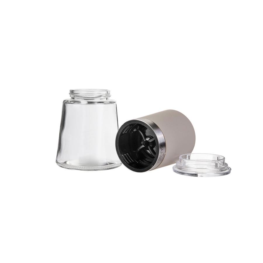 Karaca Afra Cream Cam 2li Baharat Değirmeni