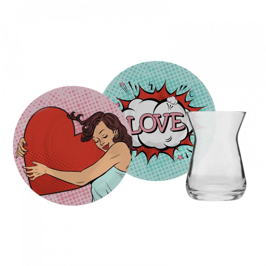 Karaca Love Art 6 Kişilik Çay Seti