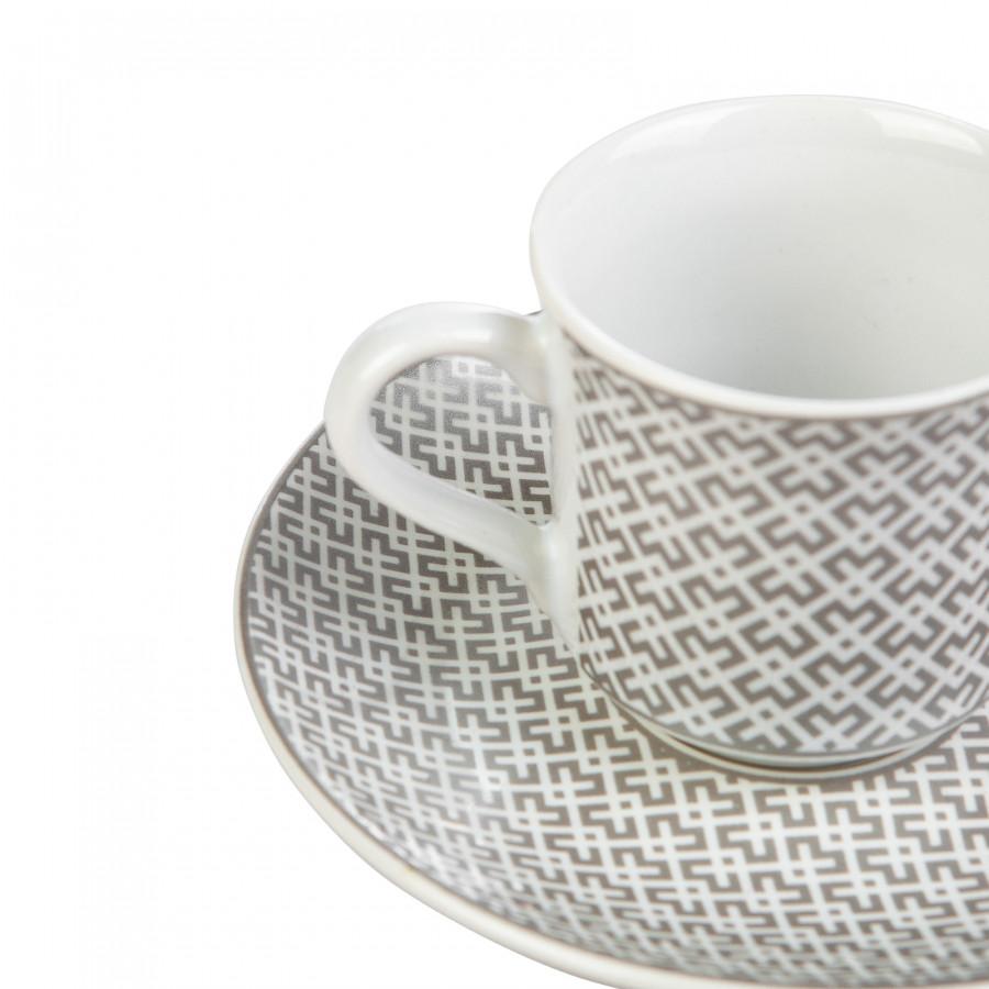 Apricot Vivi Platin 6 Kişilik Kahve Fincanı Takımı