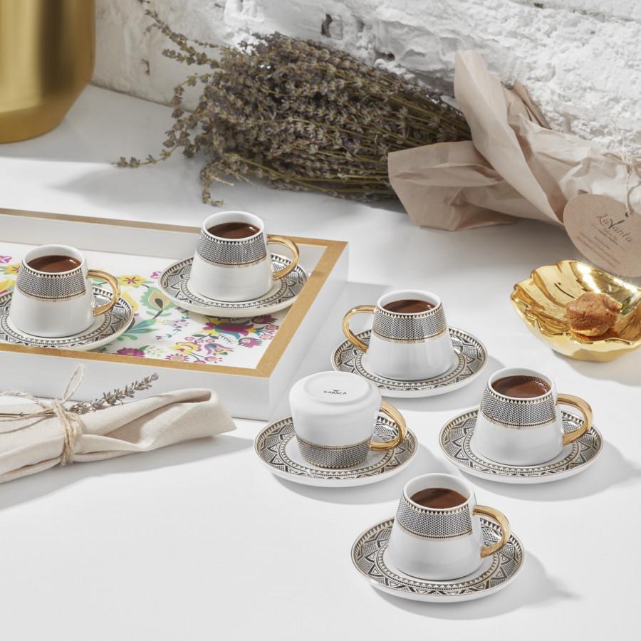Karaca Globe 6 Kişilik Kahve Fincanı Takımı