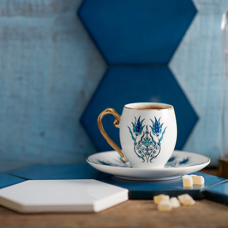 Karaca İznik 2 Kişilik Kahve Fincanı Takımı