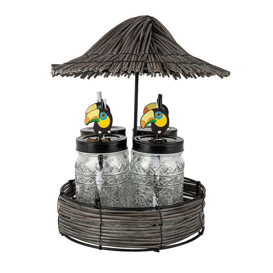 Karaca Toucan 4lü Kupa/Mug Standlı Set