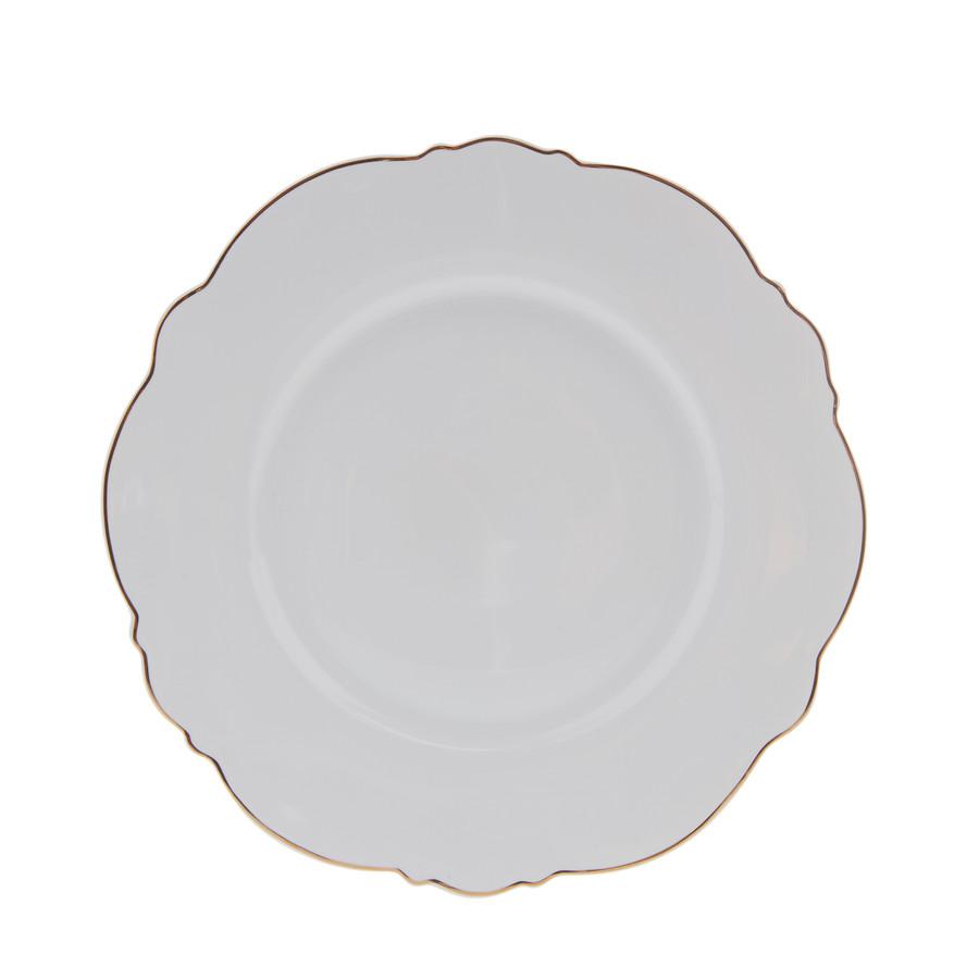 Karaca Romantic Pasta Tabağı Beyaz