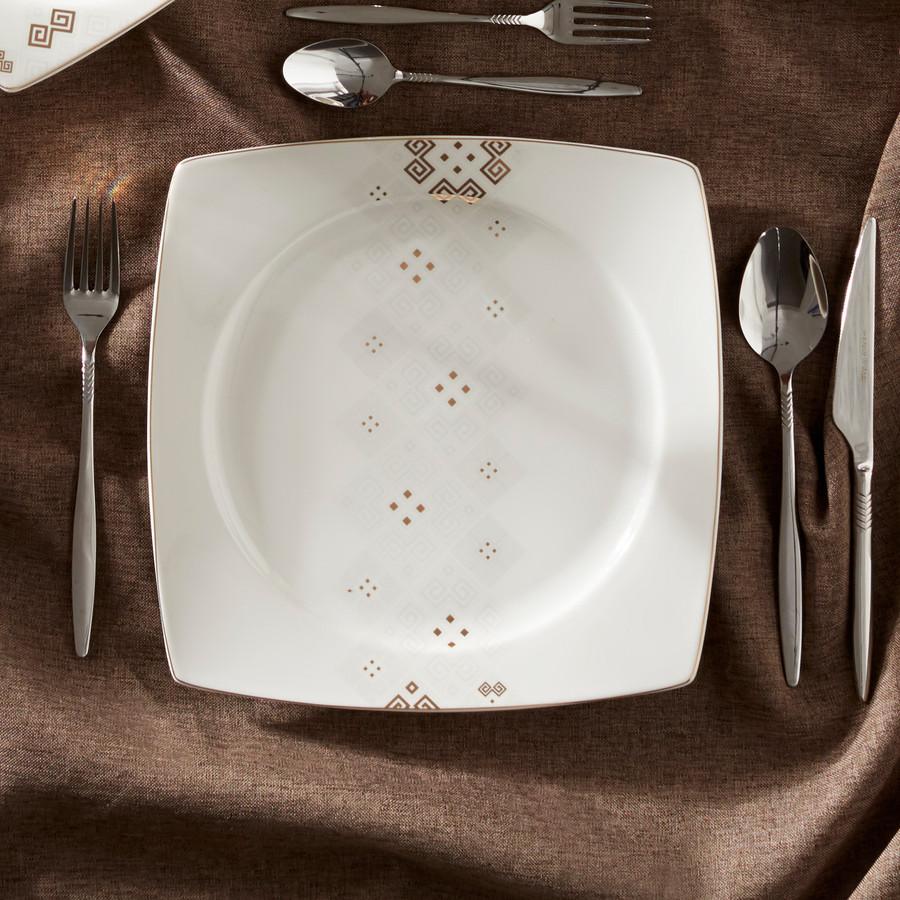 Karaca Ada 57 Parça 12 Kişilik Kare Yemek Takımı