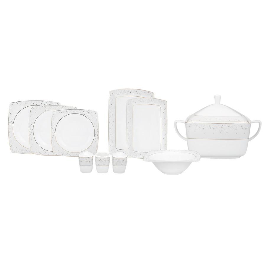 Karaca Fine Pearl New Antares 62 Parça 12 Kişilik İnci Yemek Takımı Kare