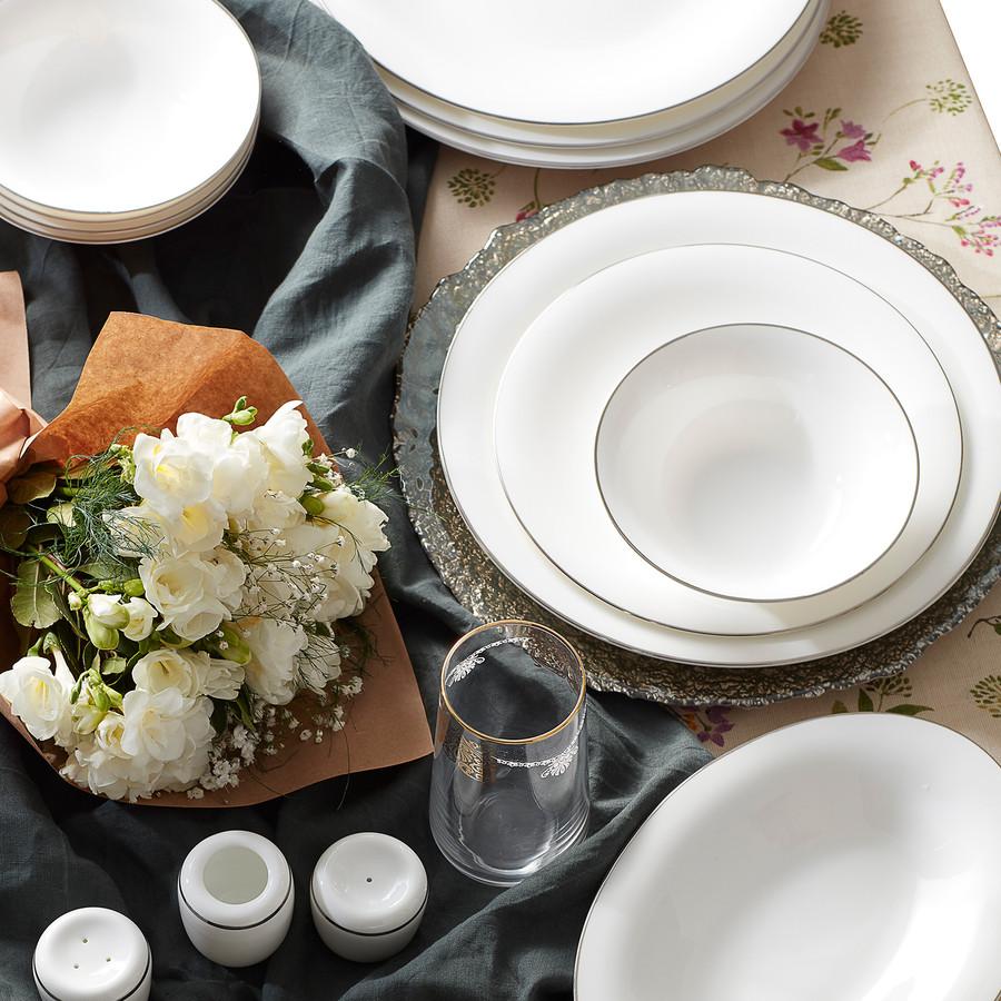 Karaca Fine Pearl Fame 58 Parça 12 Kişilik İnci Yemek Takımı