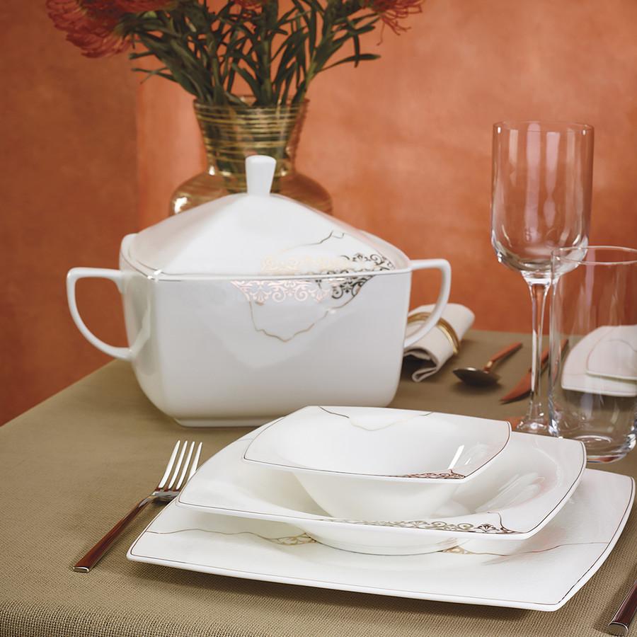 Karaca Fine Pearl Era 62 Parça 12 Kişilik Yemek Takımı