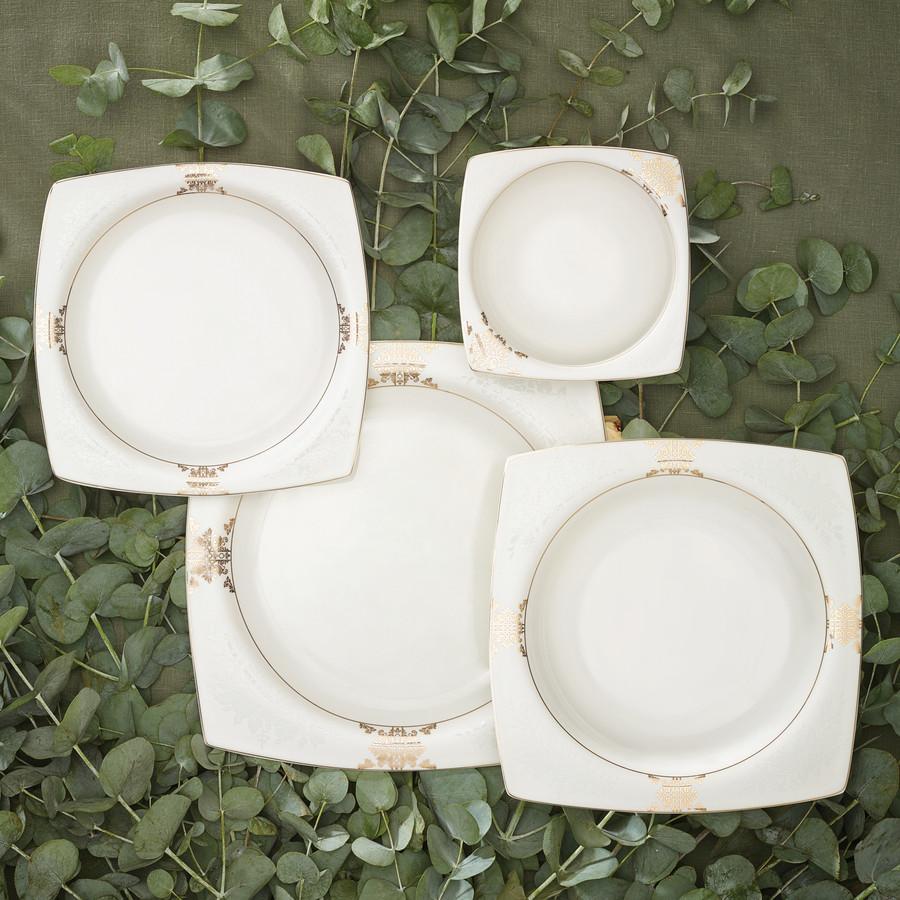 Karaca Fine Pearl Barok 26 Parça 6 Kişilik Kare İnci Kahvaltı Takımı