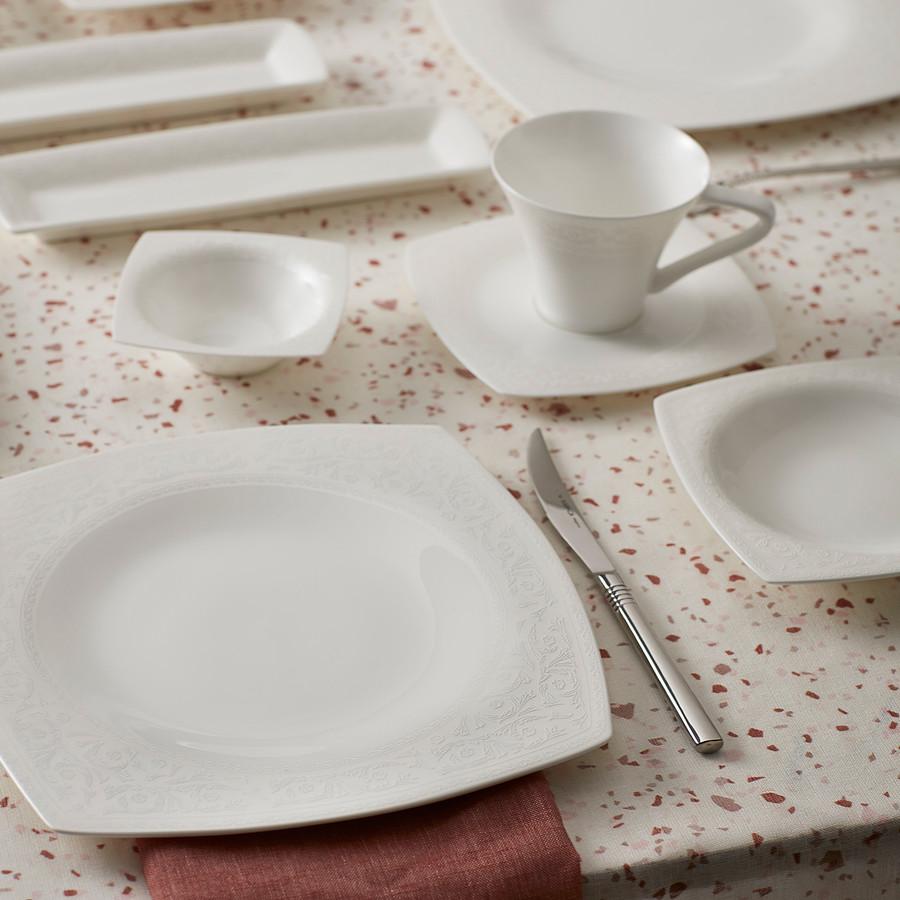 Karaca Fine Pearl Roma 26 Parça 6 Kişilik İnci Kahvaltı Takımı Kare