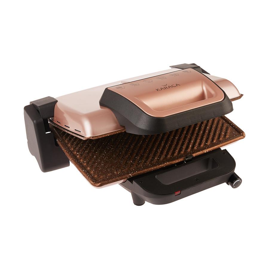 Karaca Rosegold Granit Izgara ve Tost Makinesi 2000W