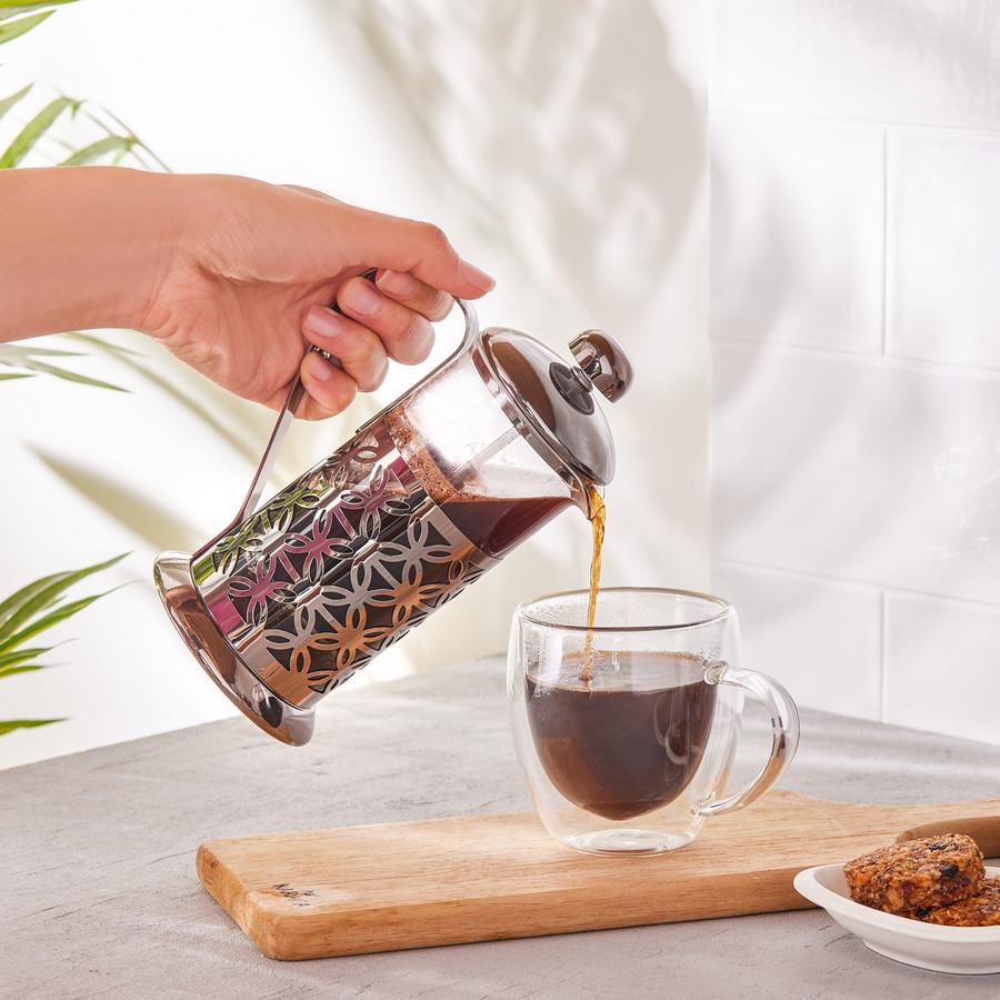 Karaca Coffee Bean French Press Black Flower 350 Ml