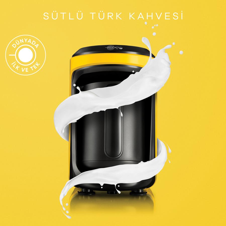 Karaca Hatır Hüps Sütlü Türk Kahve Makinesi Sarı