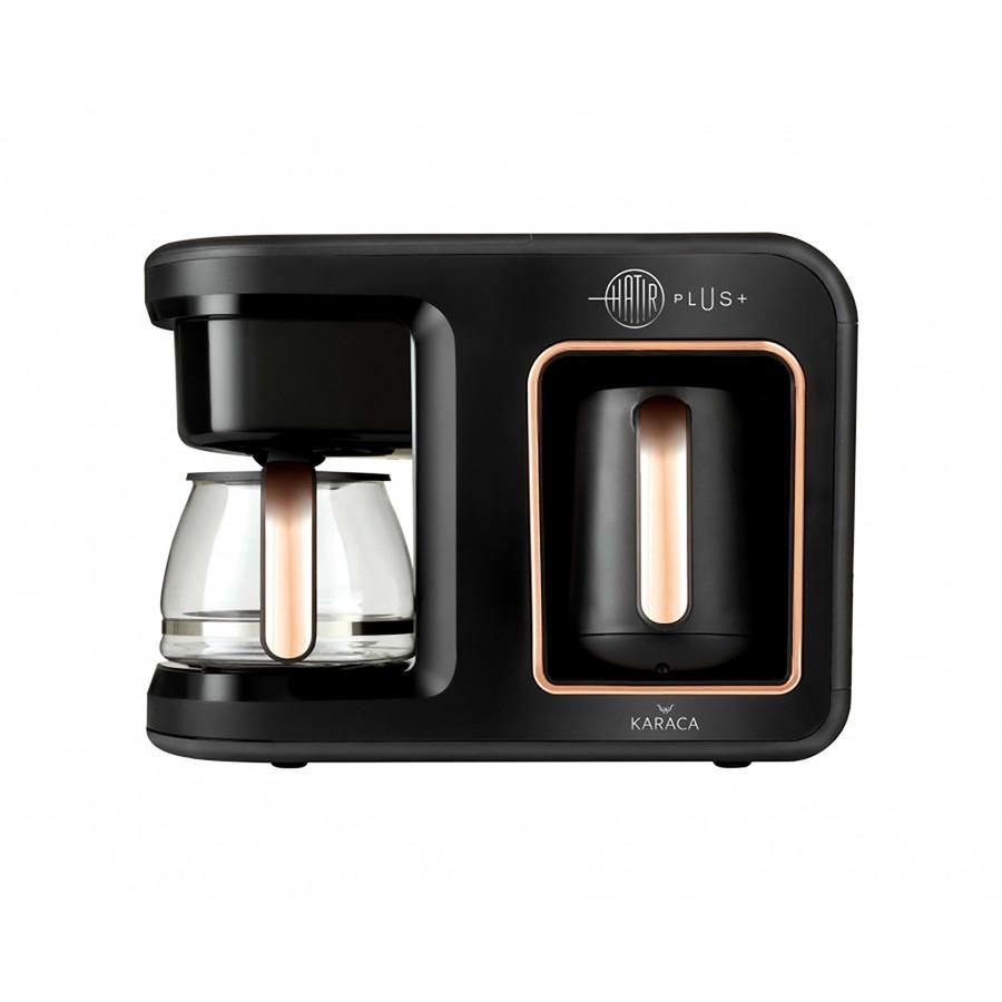Karaca Hatır Plus 2 in 1 Black Copper Kahve Makinesi