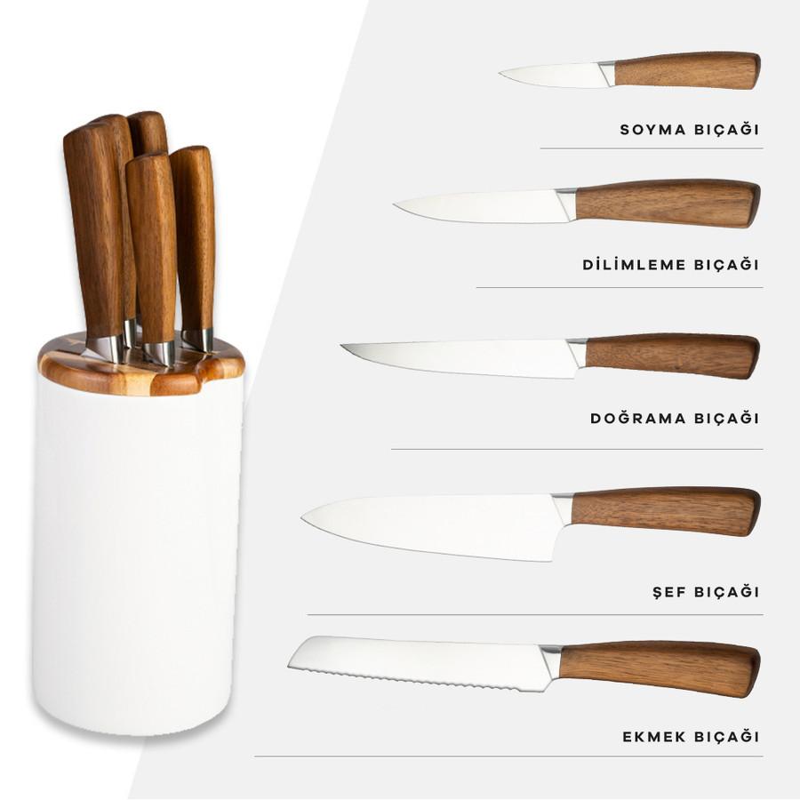 Karaca Kuğu Seramik 6 Parça Bıçak Seti