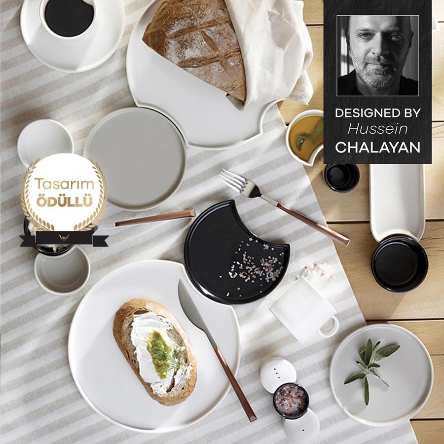 Karaca Hussein Chalayan Poly 28 Parça 6 Kişilik Kahvaltı Seti