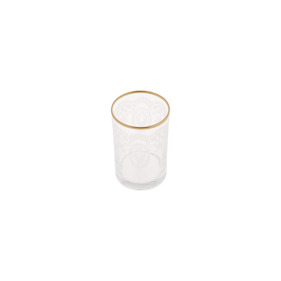 Karaca Beril 6lı Kahve Yanı Su Bardağı Gold