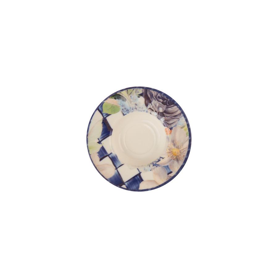 Karaca Dama Çiçekli 12 Parça 6 Kişilik Çay Seti