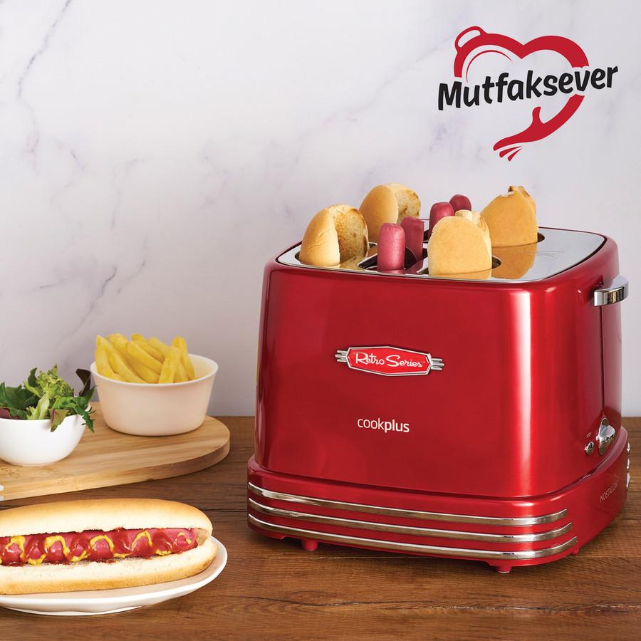 Cookplus Mutfaksever 4lü Sosisli Sandviç (Hot Dog) Yapma Makinesi