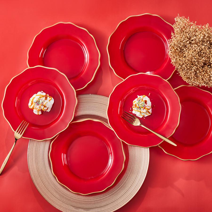Karaca Empire Kırmızı 6 Kişilik Pasta Takımı