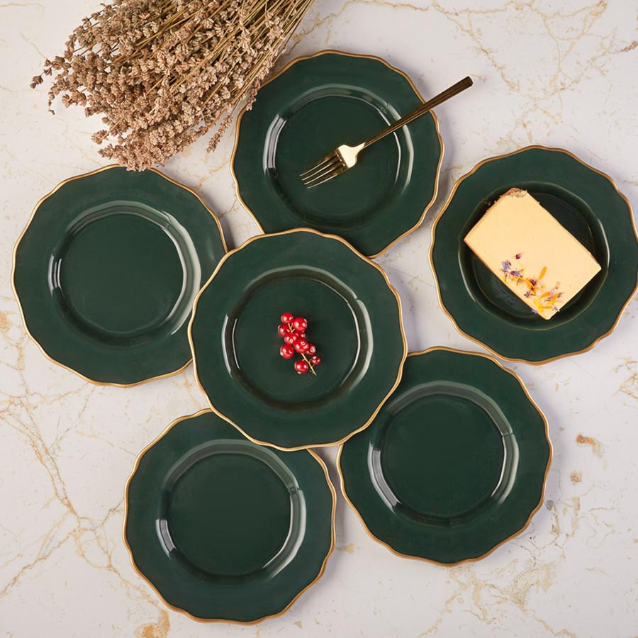 Karaca Empire Yeşil 6 Kişilik Pasta Takımı