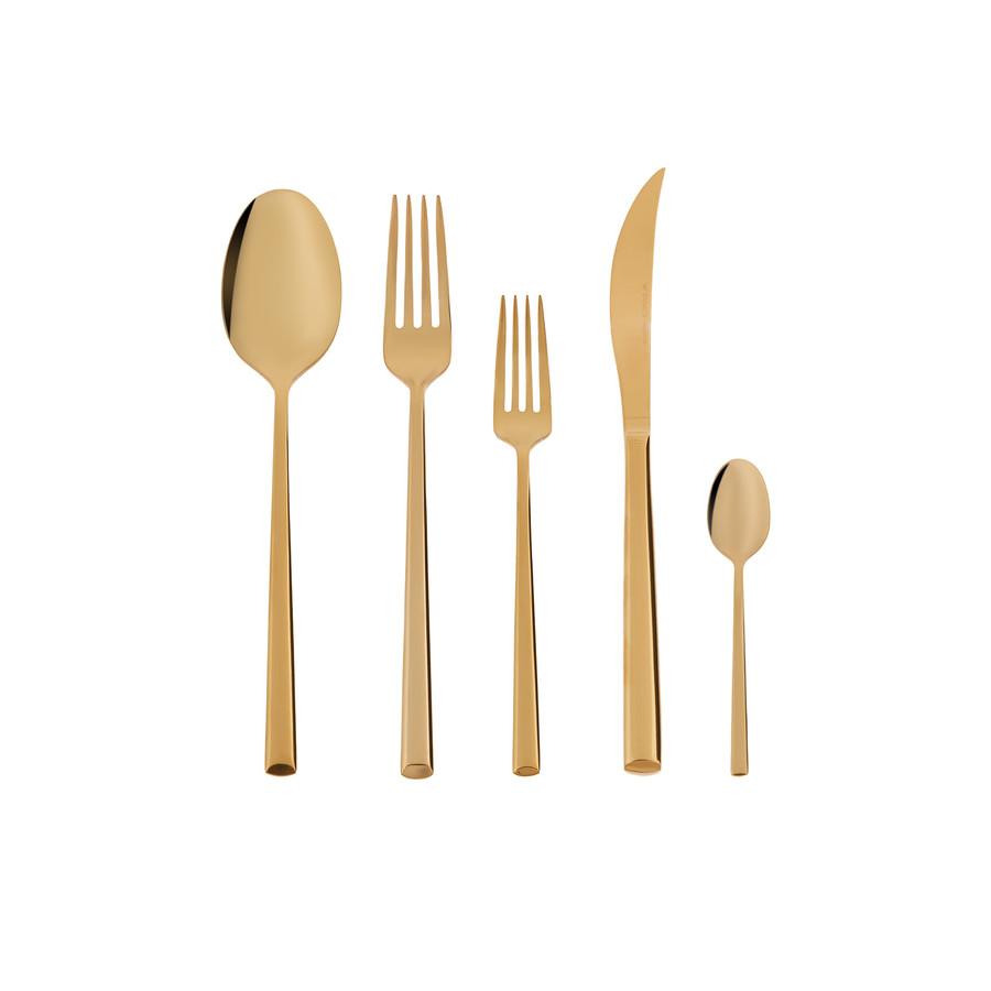 Karaca 30 Parça 6 Kişilik Tivoli Gold Çatal Kaşık Bıçak Takımı