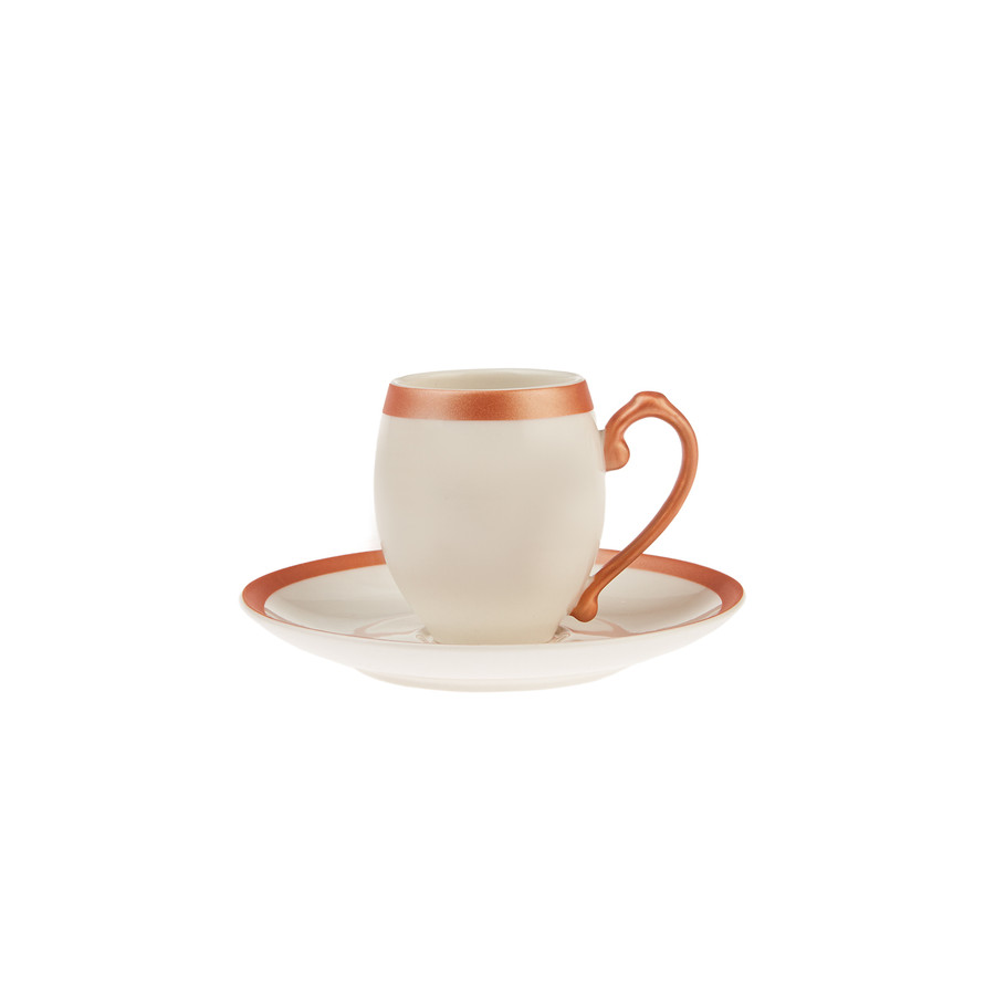 Karaca Iznik Copper 6 Kişilik Kahve Fincanı Takımı