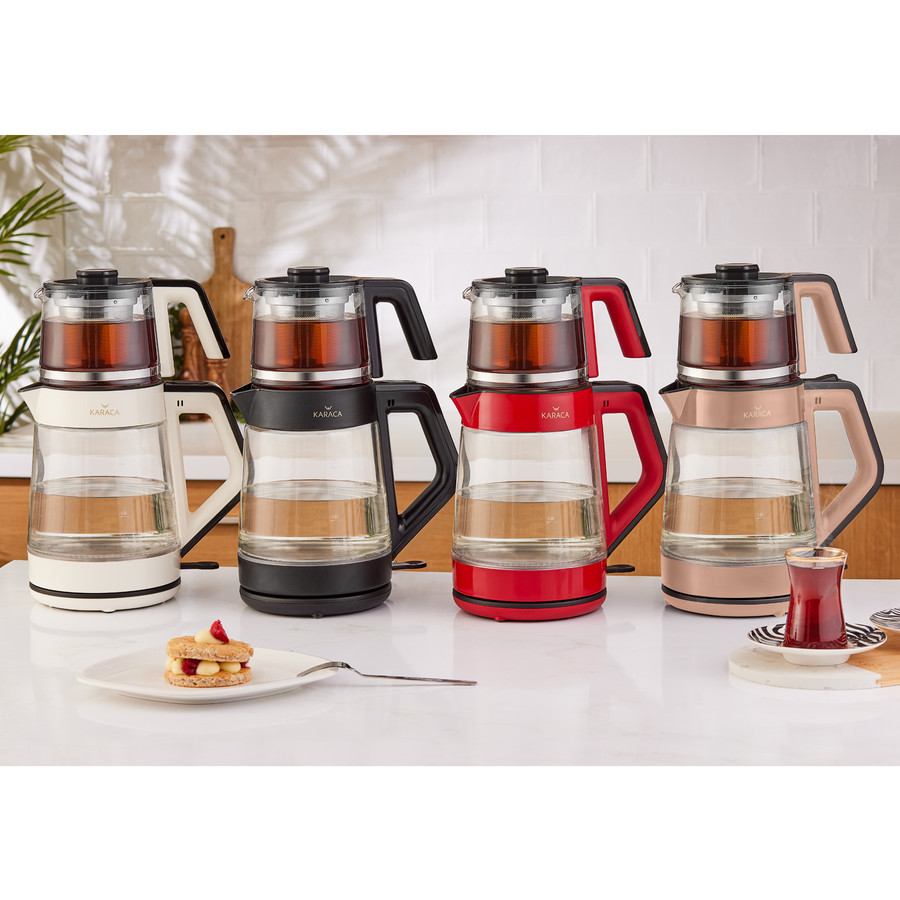 Karaca Black Cam Led Işıklı Çay Makinesi