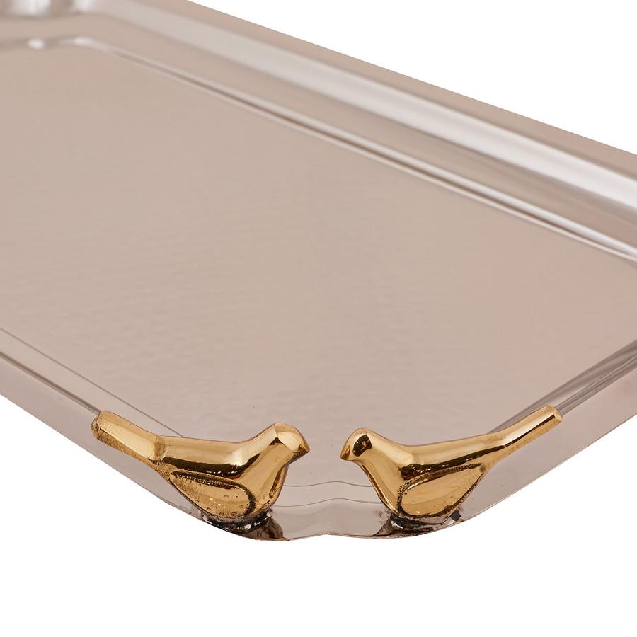 Karaca Birdy Gümüş Tepsi 36x21cm