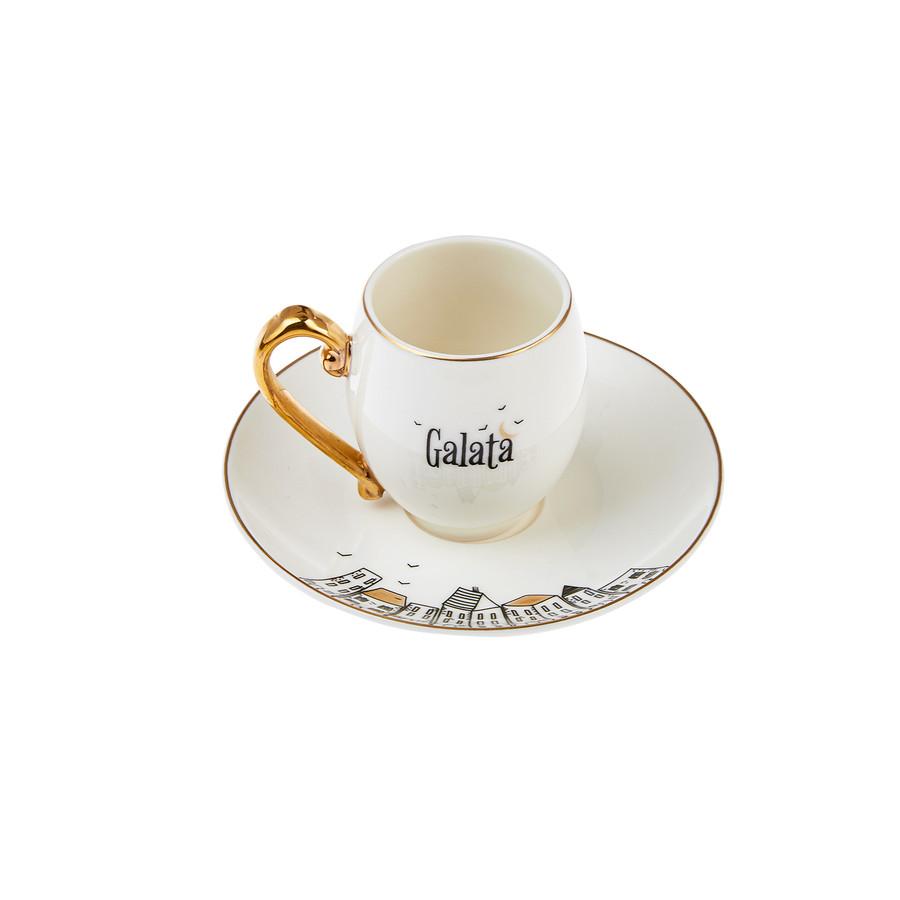 Karaca Galata 6 Kişilik Kahve Fincanı Takımı