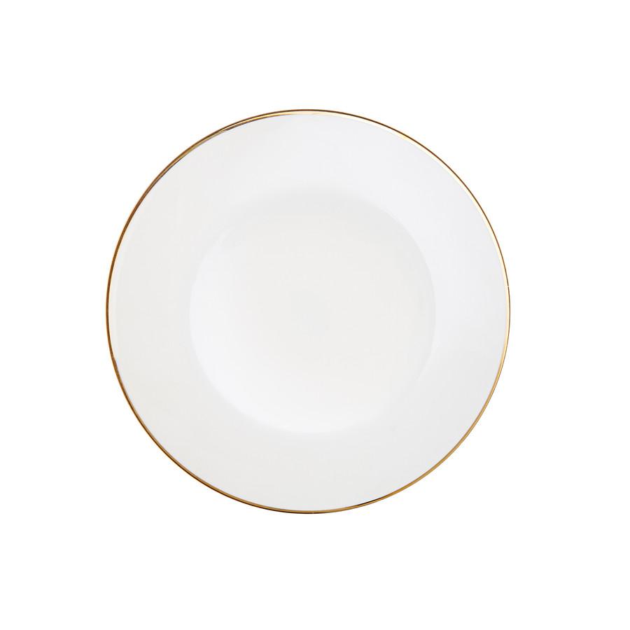 Karaca Alicia 24 Parça 6 Kişilik Gold Yuvarlak Yemek Takımı