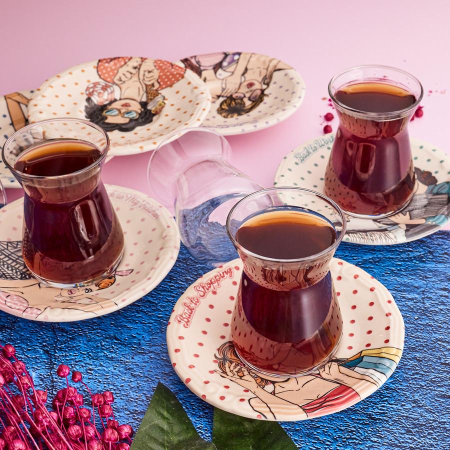 Karaca Back To 12 Parça 6 Kişilik Çay Seti