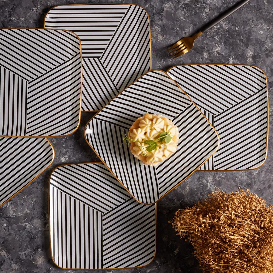 Karaca Black Noir 6 Kişilik Pasta Takımı